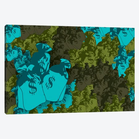 Money Bag Camo Canvas Print #STZ43} by Steez Canvas Art Print
