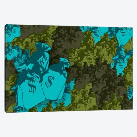 Money Bag Camo Canvas Print #STZ43} by Steez Canvas Art Print