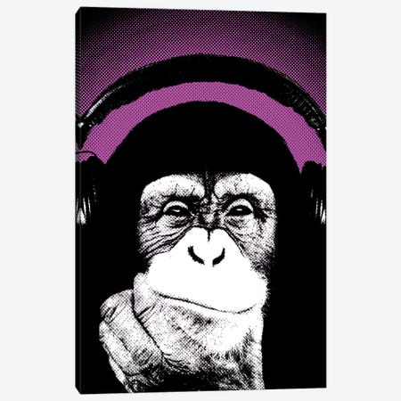 Monkey BL I Canvas Print #STZ44} by Steez Canvas Wall Art