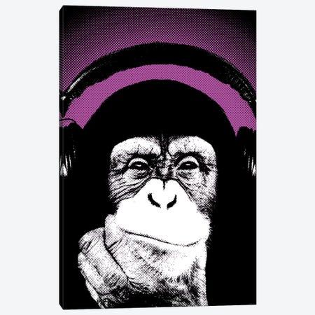 Monkey BL I Canvas Print #STZ44} by Steez Canvas Wall Art