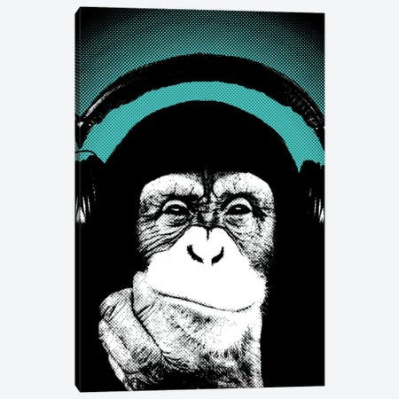 Monkey BL II Canvas Print #STZ45} by Steez Canvas Wall Art