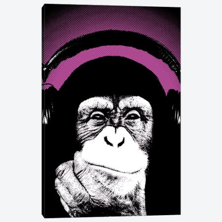 Monkey BL IV Canvas Print #STZ47} by Steez Canvas Artwork