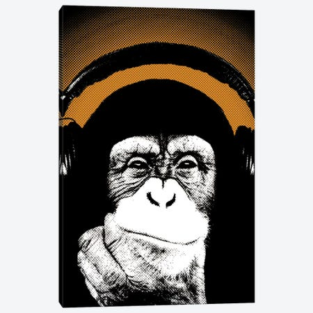 Monkey BL V Canvas Print #STZ48} by Steez Canvas Art Print