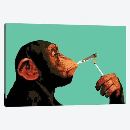 Monkey Joint Time Canvas Print #STZ52} by Steez Canvas Art