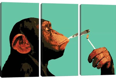 Monkey Joint Time Canvas Art Print