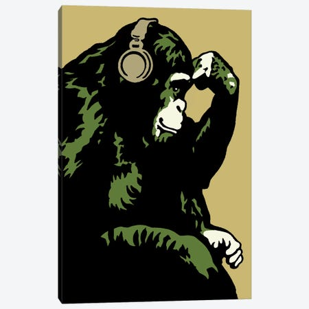 Monkey Thinker Army Canvas Print #STZ53} by Steez Canvas Wall Art