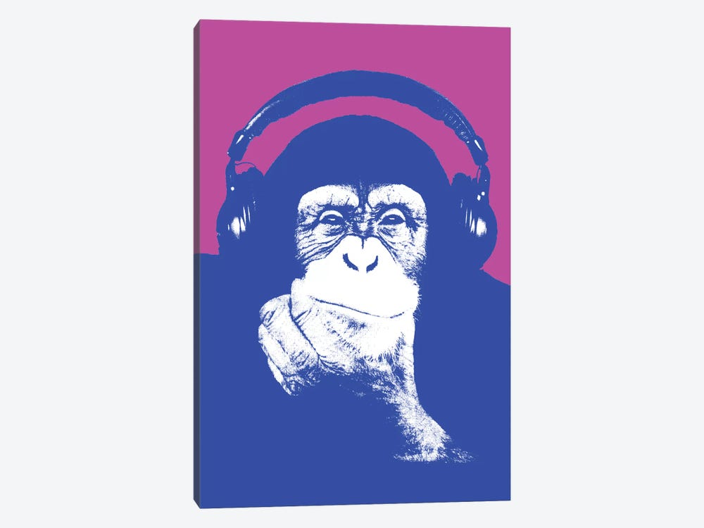 New Monkey Head I by Steez 1-piece Canvas Artwork
