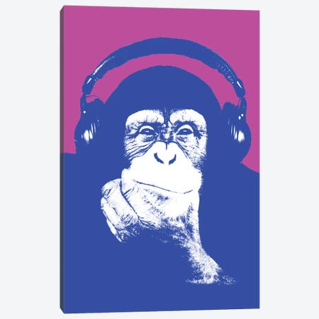 New Monkey Head I Canvas Print #STZ54} by Steez Canvas Art Print