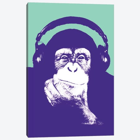 New Monkey Head III Canvas Print #STZ55} by Steez Art Print