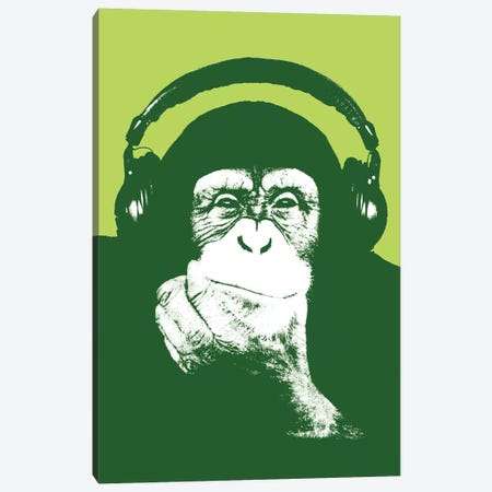 New Monkey Head IV Canvas Print #STZ56} by Steez Art Print