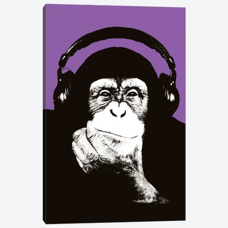 New Monkey Head IX Canvas Print #STZ57} by Steez Art Print