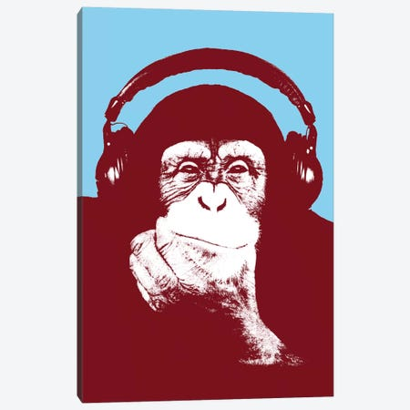 New Monkey Head V Canvas Print #STZ58} by Steez Canvas Art