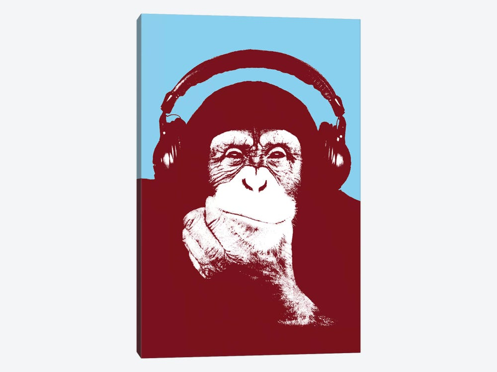 New Monkey Head V by Steez 1-piece Canvas Art