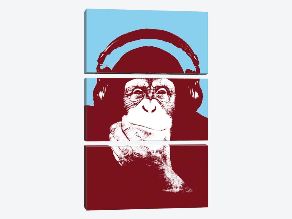New Monkey Head V by Steez 3-piece Canvas Wall Art