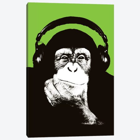 New Monkey Head VI Canvas Print #STZ59} by Steez Canvas Artwork
