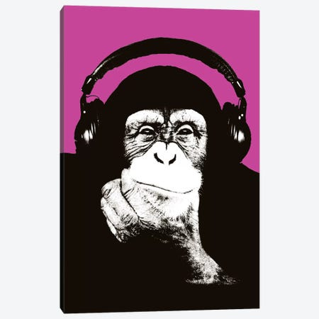 New Monkey Head VII Canvas Print #STZ60} by Steez Canvas Print