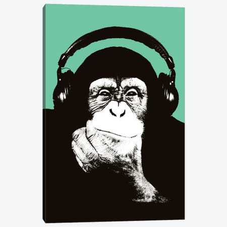 New Monkey Head VIII Canvas Print #STZ61} by Steez Canvas Art Print