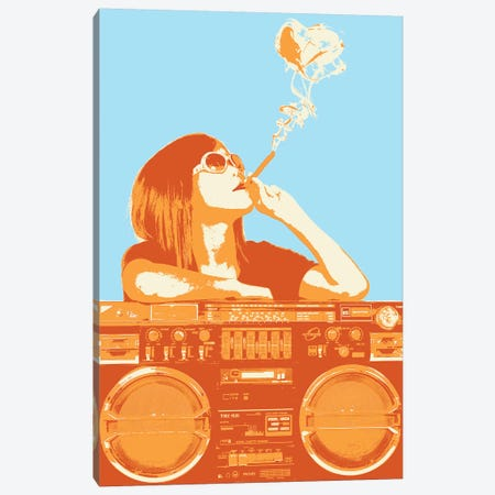 Puff Puff Pass Canvas Print #STZ63} by Steez Canvas Print