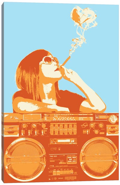 Puff Puff Pass Canvas Art Print