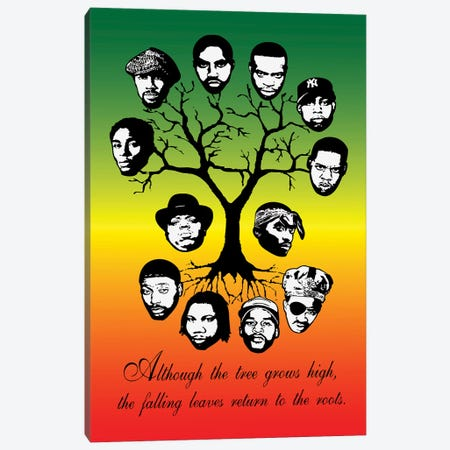 Roots Family Tree Canvas Print #STZ64} by Steez Canvas Wall Art