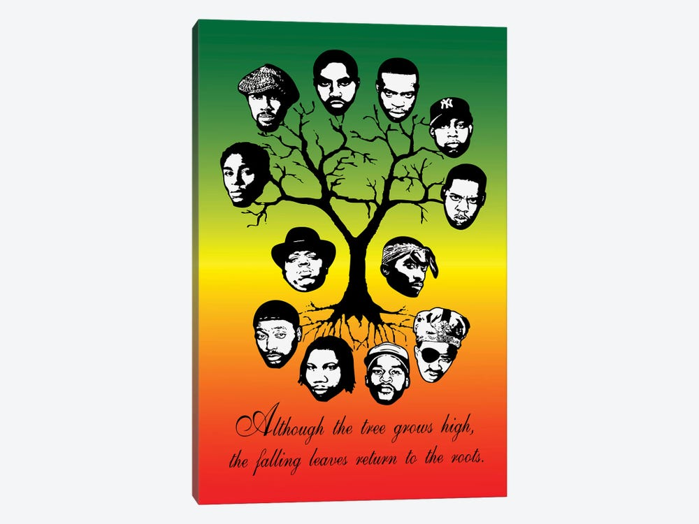 Roots Family Tree by Steez 1-piece Canvas Art Print