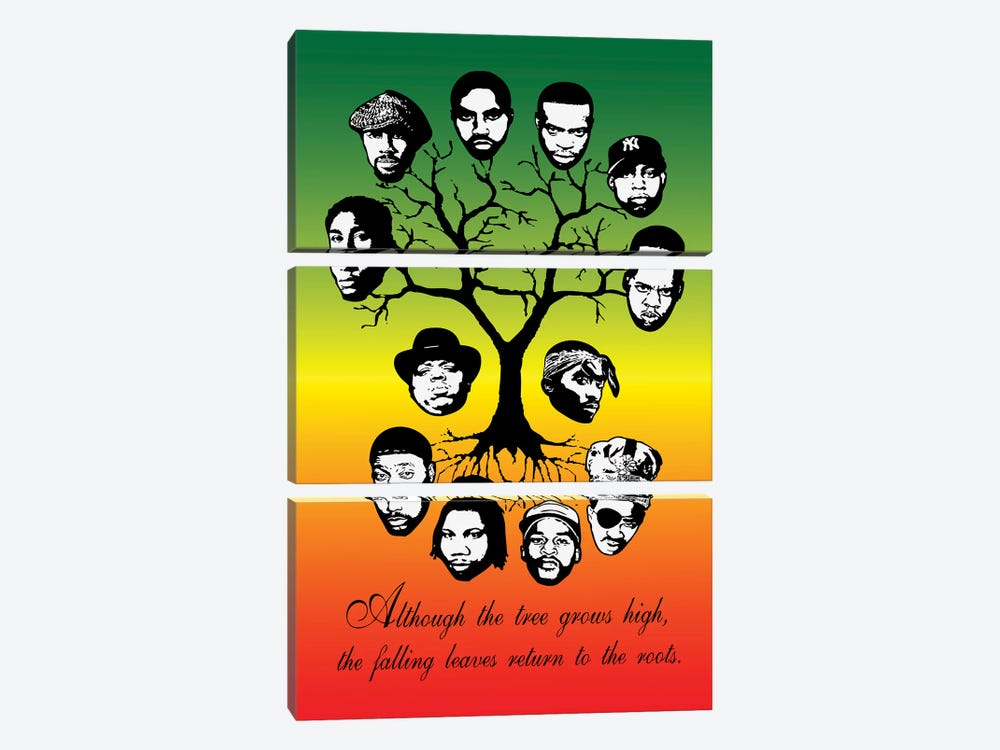Roots Family Tree by Steez 3-piece Art Print