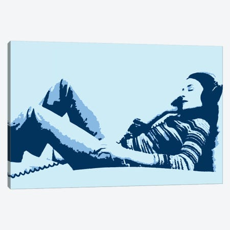 Beat Junkie Blue Canvas Print #STZ7} by Steez Canvas Art
