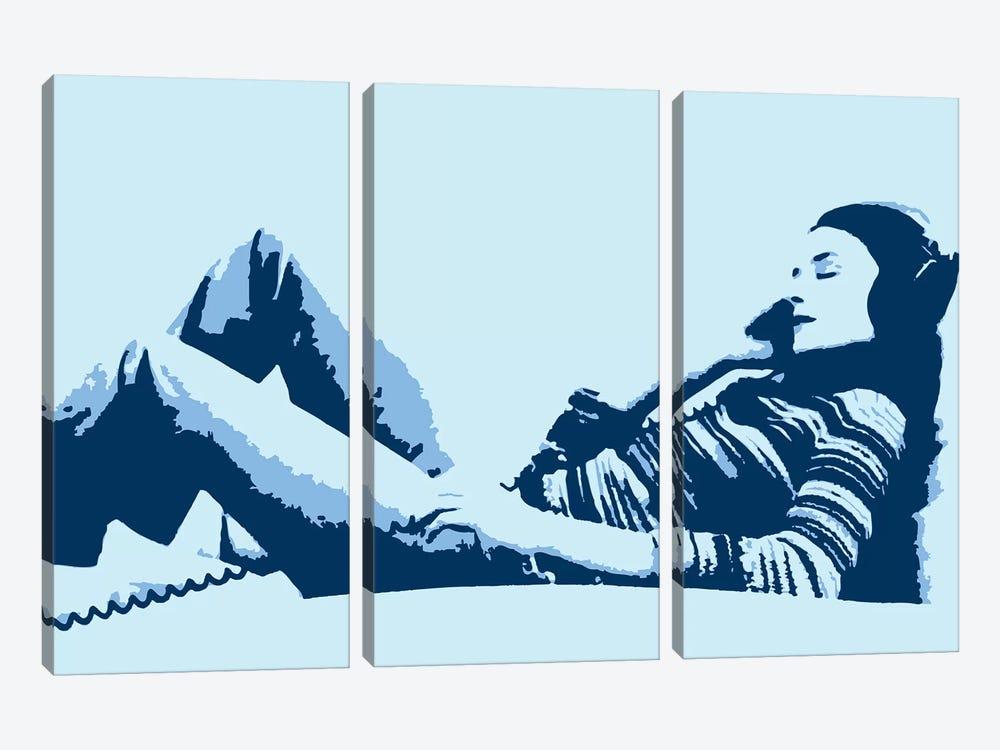 Beat Junkie Blue by Steez 3-piece Canvas Wall Art