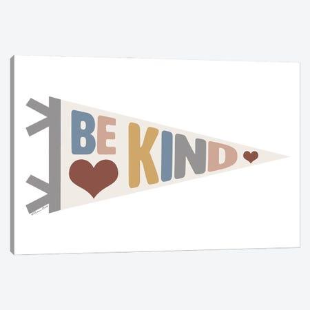 Be Kind Pennant Canvas Print #SUB100} by Susan Ball Canvas Wall Art