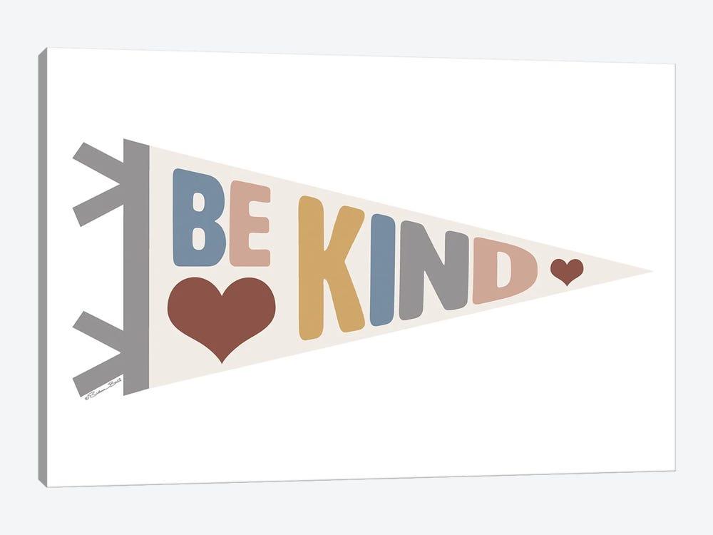 Be Kind Pennant by Susan Ball 1-piece Canvas Art Print