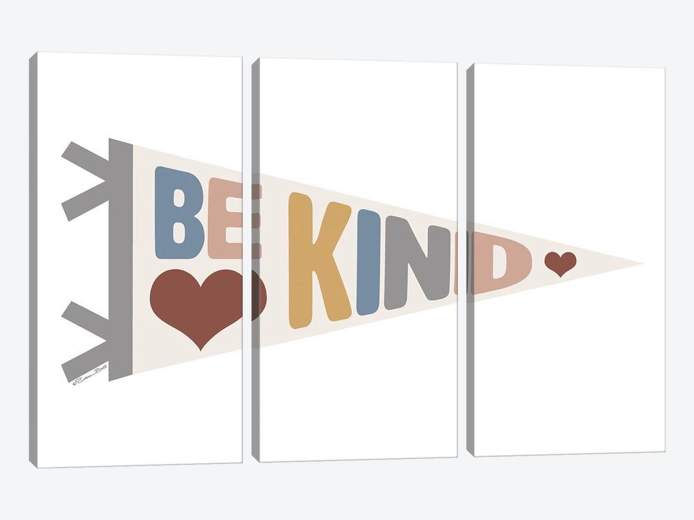 Be Kind Pennant by Susan Ball 3-piece Canvas Art Print