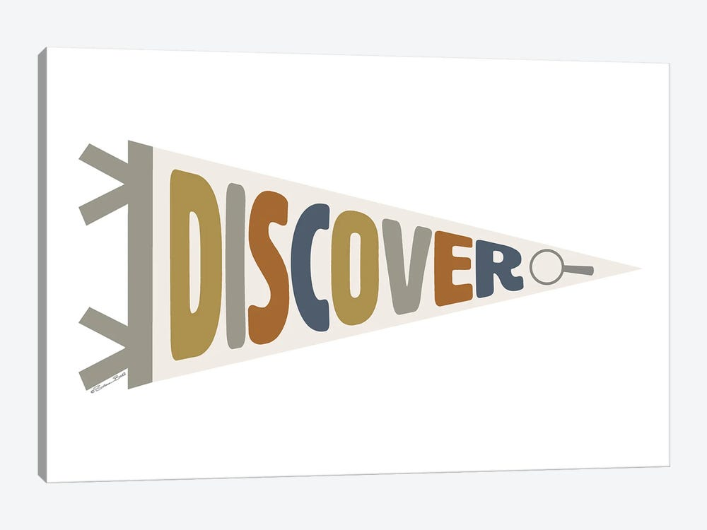 Discover Pennant by Susan Ball 1-piece Canvas Print