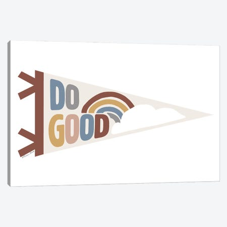 Do Good Pennant Canvas Print #SUB103} by Susan Ball Canvas Artwork
