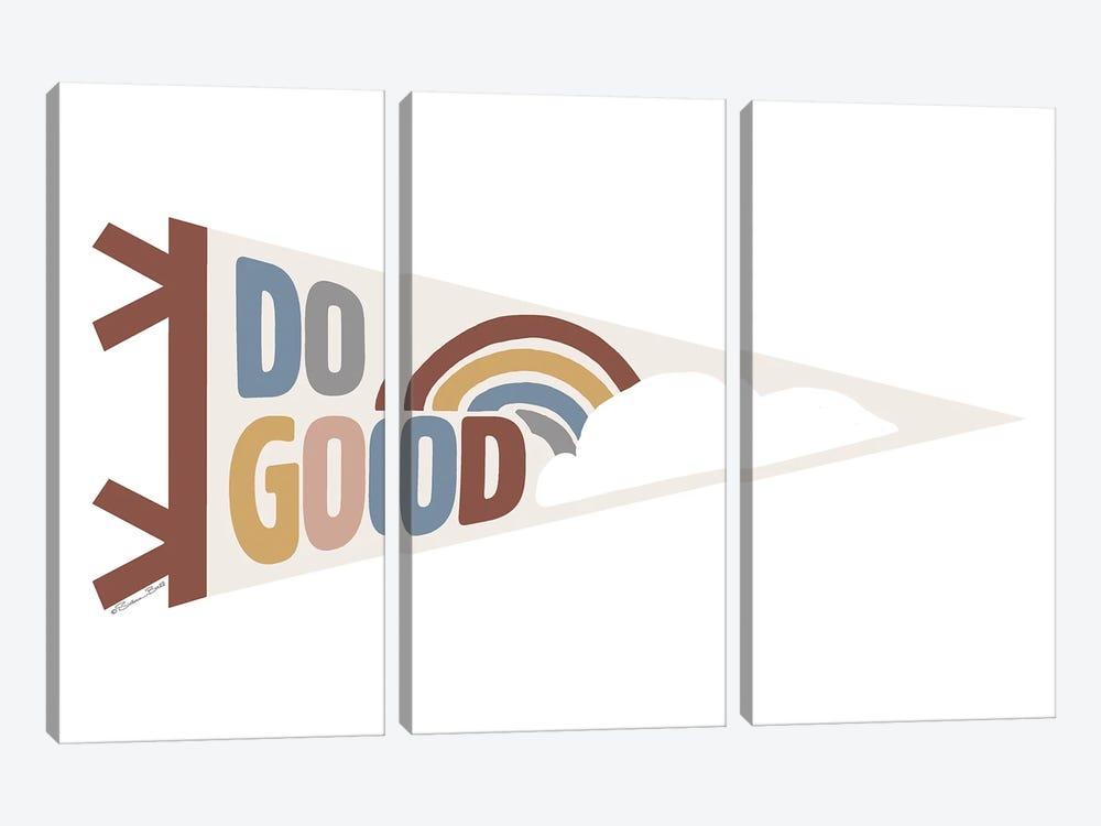 Do Good Pennant by Susan Ball 3-piece Canvas Artwork