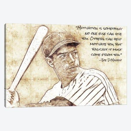 Joe DiMaggio Canvas Print #SUB119} by Susan Ball Art Print