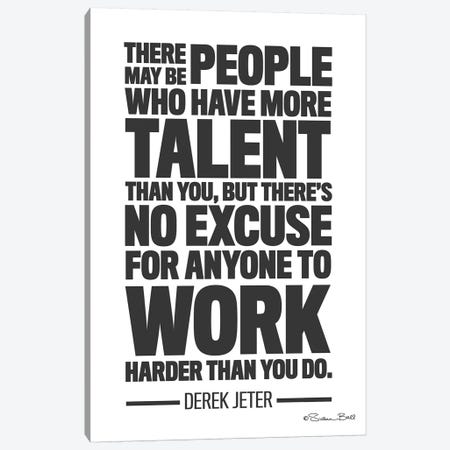 Derek Jeter Quote Canvas Print #SUB11} by Susan Ball Art Print