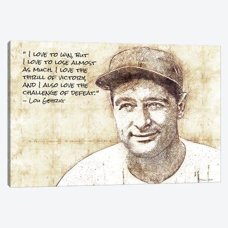 Lou Gehrig Sketch Canvas Print #SUB120} by Susan Ball Canvas Artwork