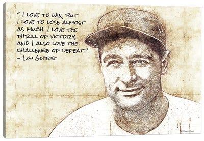 Lou Gehrig Sketch Canvas Art Print