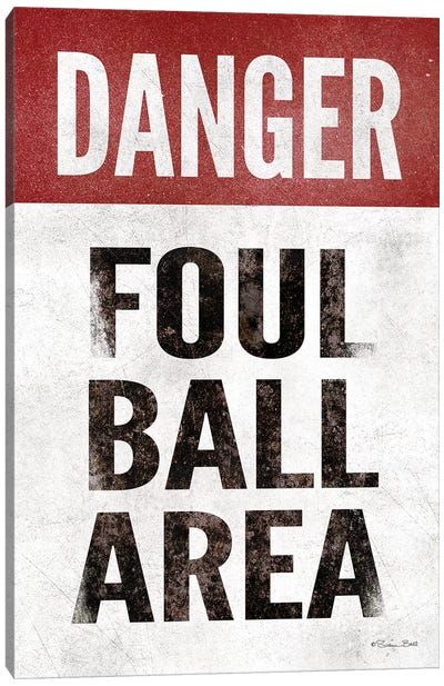 Foul Ball Area Canvas Art Print