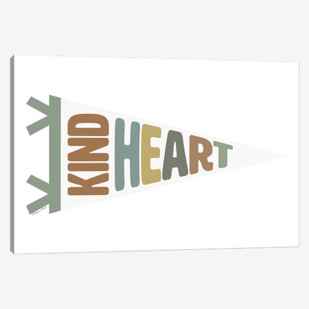 Kind Heart Pennant Canvas Print #SUB131} by Susan Ball Canvas Art Print