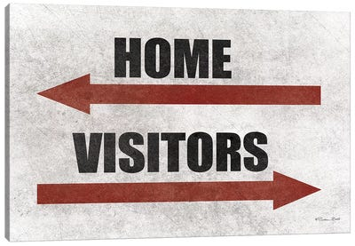 Home & Visitors Canvas Art Print