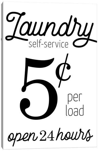 Laundry 5 Cents Canvas Art Print