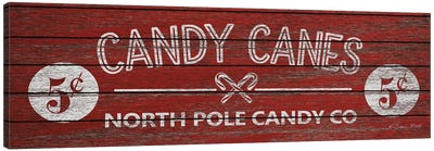 Candy Canes Canvas Art Print