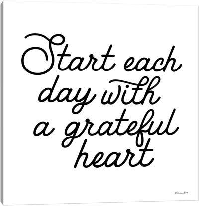 Start Each Day Canvas Art Print