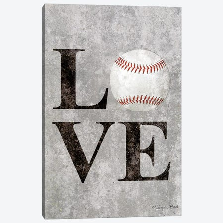 LOVE Baseball Canvas Print #SUB17} by Susan Ball Canvas Artwork