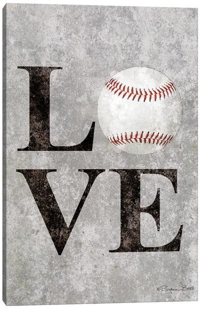 LOVE Baseball Canvas Art Print
