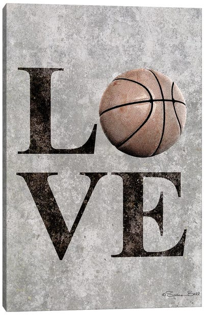 LOVE Basketball Canvas Art Print
