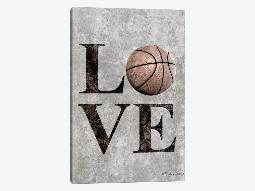 LOVE Basketball by Susan Ball 1-piece Canvas Wall Art