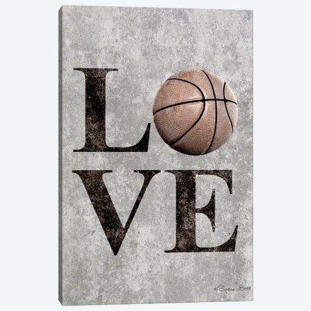 LOVE Basketball Canvas Print #SUB18} by Susan Ball Canvas Print