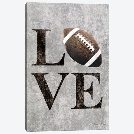 LOVE Football Canvas Print #SUB19} by Susan Ball Canvas Art Print